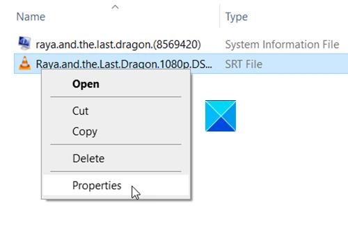 SRT File
