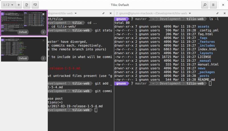 tilix screenshot