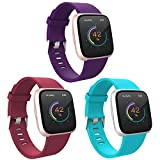 Image of WASPO for Fitbit Versa Strap Silicone, Classic TPU Silicone Sport Replacement Bands compatible with Versa/Versa Lite/Versa Special Edition/Versa 2, Women Men Small Large
