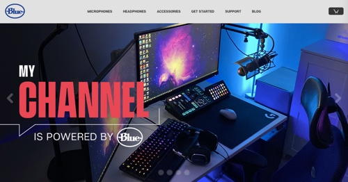 Home page of Blue Yeti