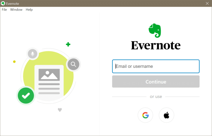 Evernote not opening or working in Windows 10 pic6