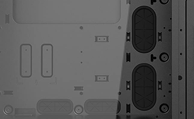Close up of rubber grommets in a Phanteks case.