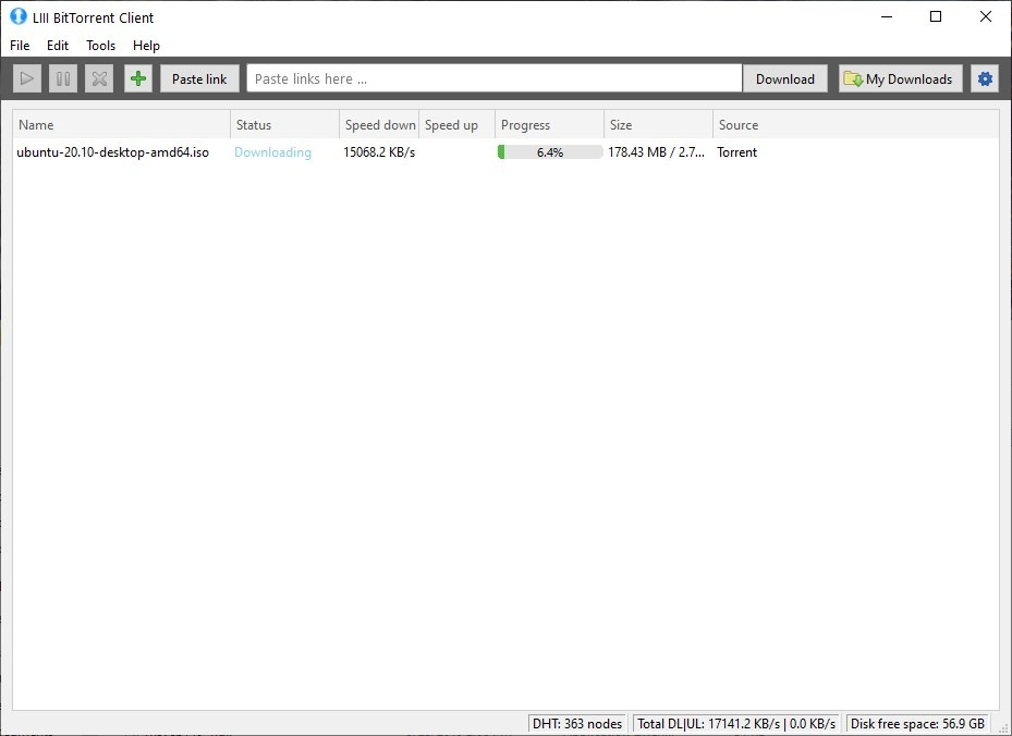 LIII is a lightweight open source BitTorrent client for Windows