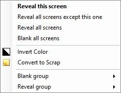 Multiscreen Blank - blanked screen menu