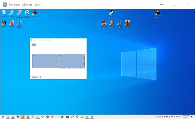 Multiscreen Blank - screen mirroring