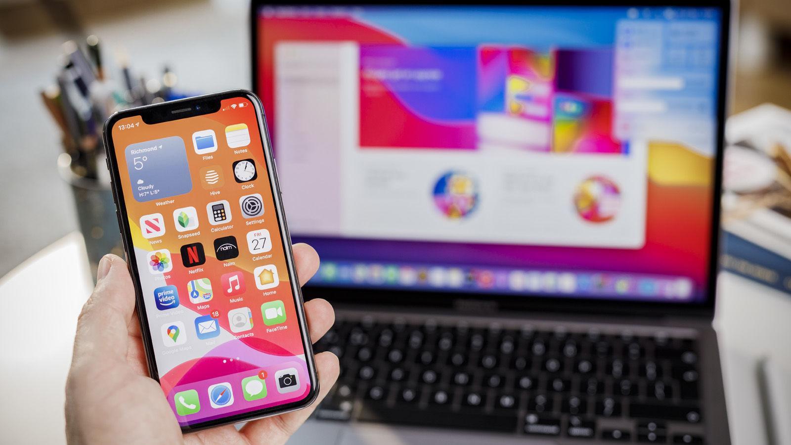 Couper et coller l'iPhone sur Mac
