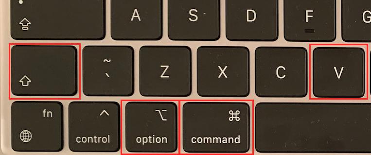 Copier aucun formatage Mac