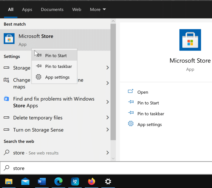 create desktop shortcut for Store app in Windows 10 pic1
