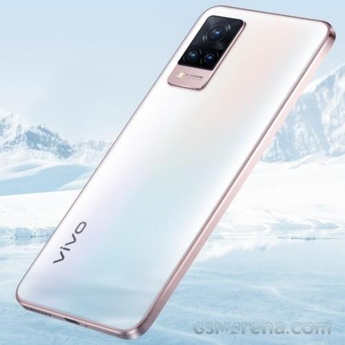 vivo V21 5G in Arctic White color