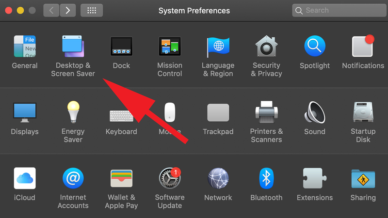 How to turn off Mac display without putting it to sleep: System Preferences