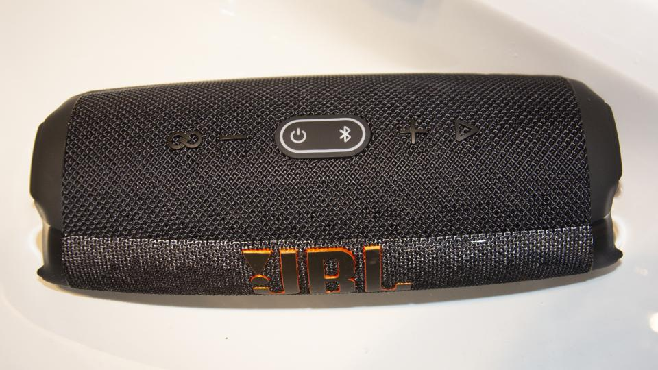 JBL Charge 5 review submerged in water