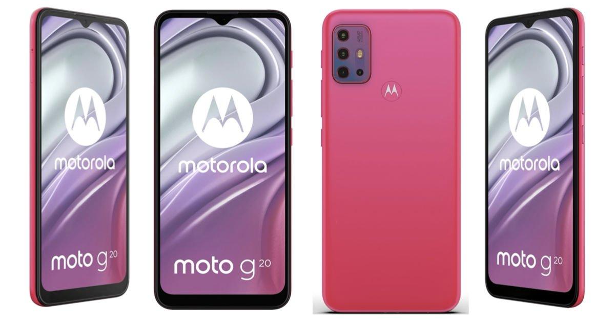 Motorola Moto G20 render