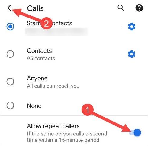 allow repeat callers