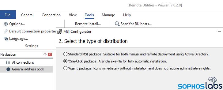 EpsilonRed ransomware installs Remote Utilities software