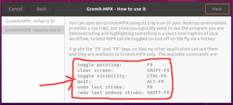 gromit mpx available commands
