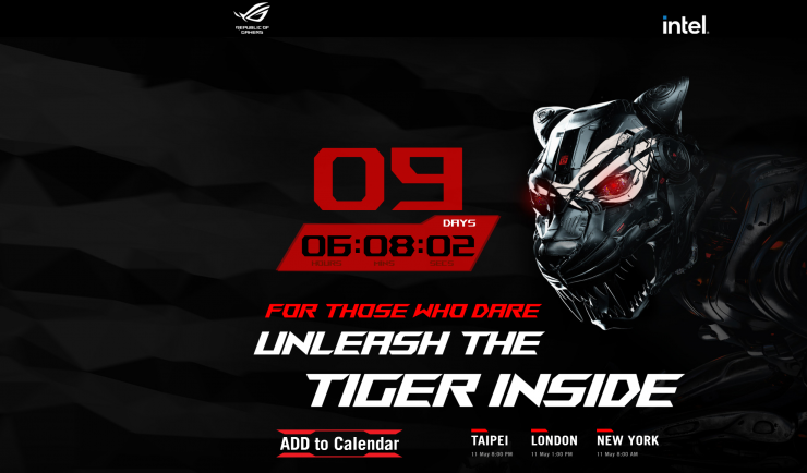 Intel's High-End Tiger Lake-H Powered ASUS ROG Zephyrus S17 Laptop Teased, Unveiling on 11th May