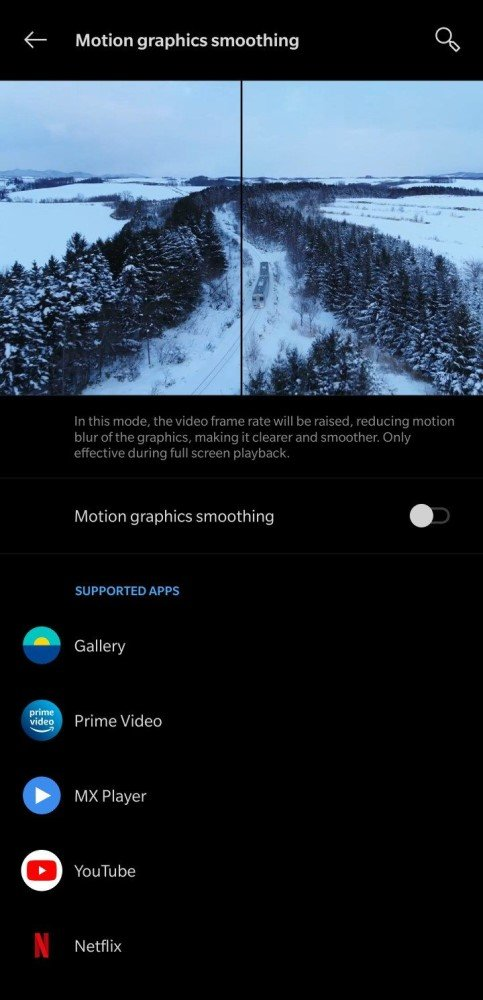 MEMC Motion Graphics Smoothing in Phones