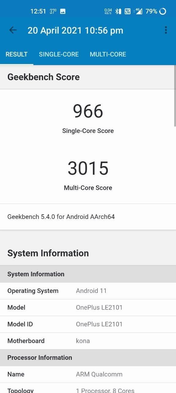 OnePlus 9R Review AnTuTu Benchmark