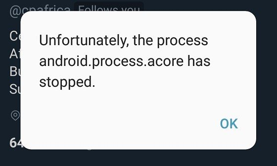 """Fix """"android.process.acore has stopped"""" Error on Android"""