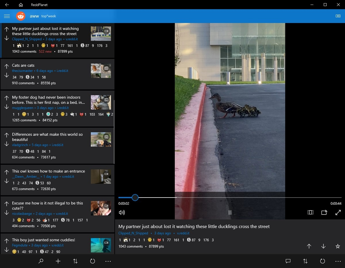 ReddPlanet is a well-designed free reddit client for Windows 10