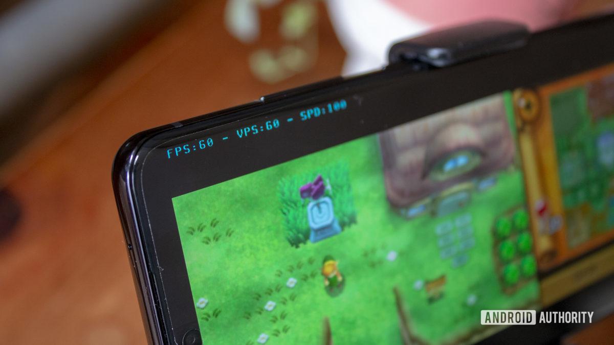 Samsung Galaxy S20 Ultra Nintendo 3DS Emulation Zelda Link Between Worlds FPS