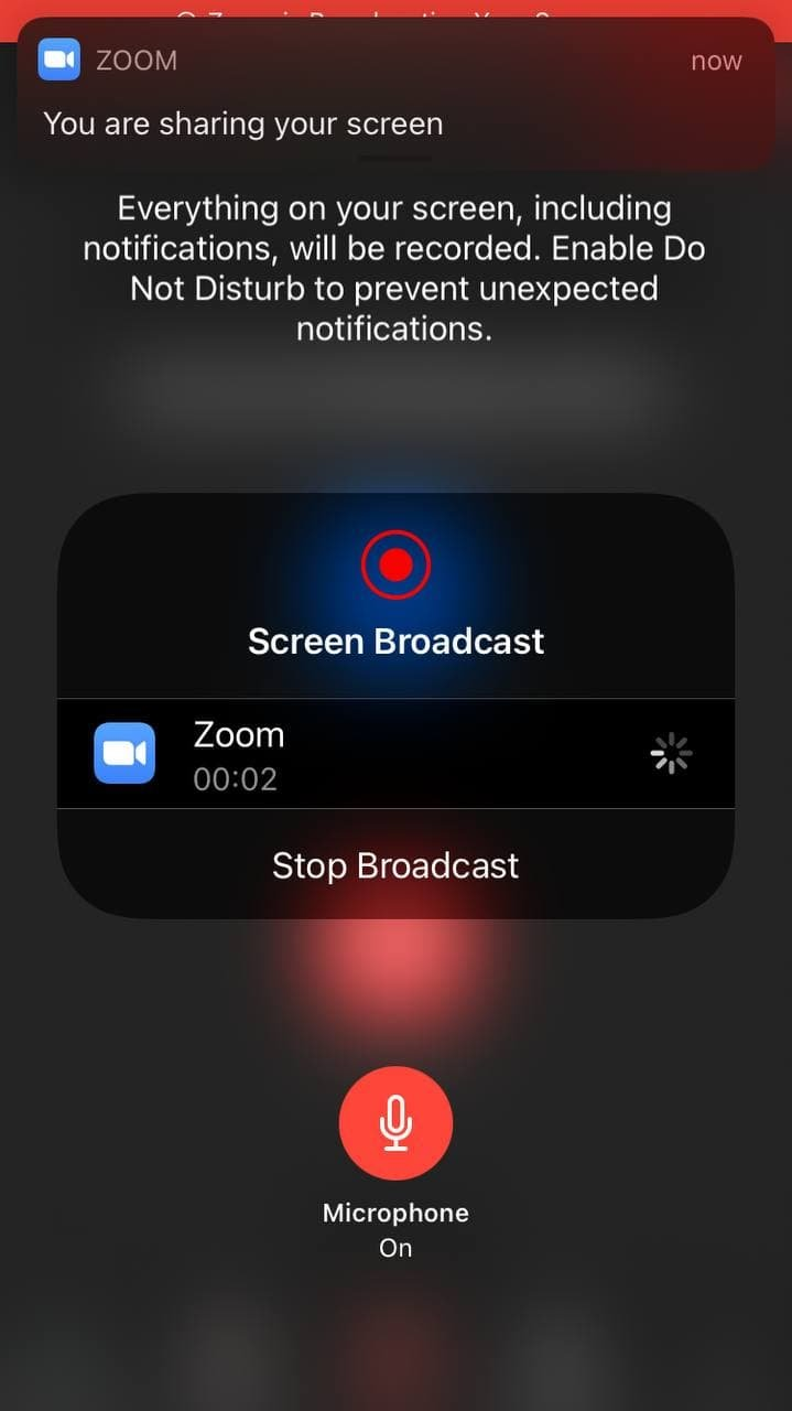 Share iPhone Screen in Zoom Meeting