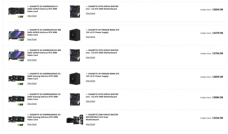 Selection of NVIDIA GeForce RTX 30 series graphics cards in the Newegg Shuffle on May 1st