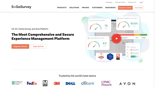 Home page of SoGoSurvey