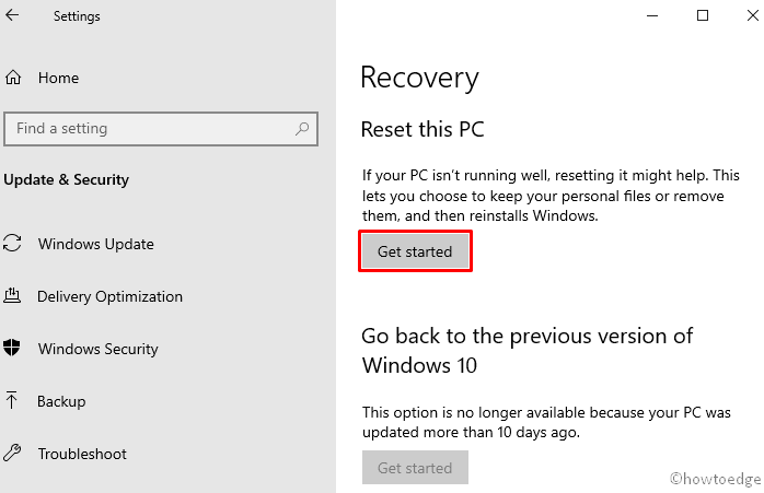 Update error 0x800f0988