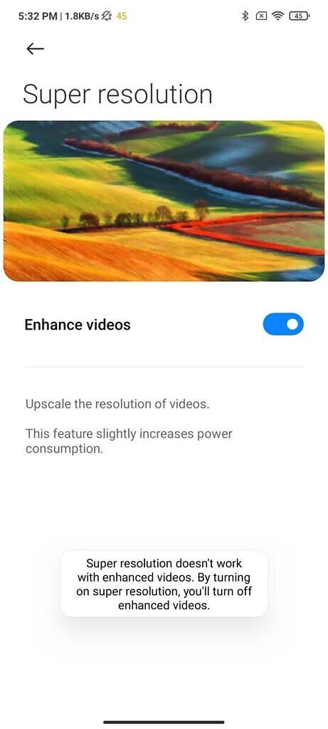 Xiaomi Mi 11X Pro SD to HD upscaling
