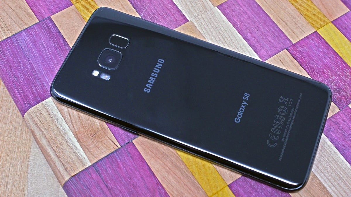The Galaxy S8 smartphone