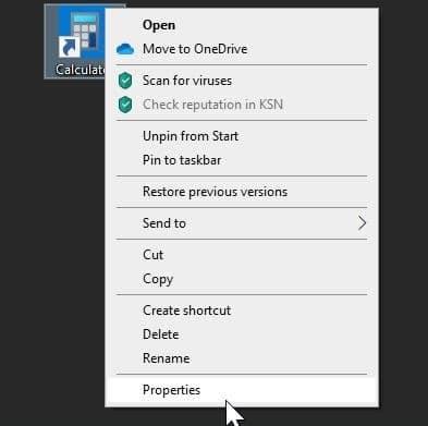 create keyboard shortcut to open calculator in Windows 10 pic3