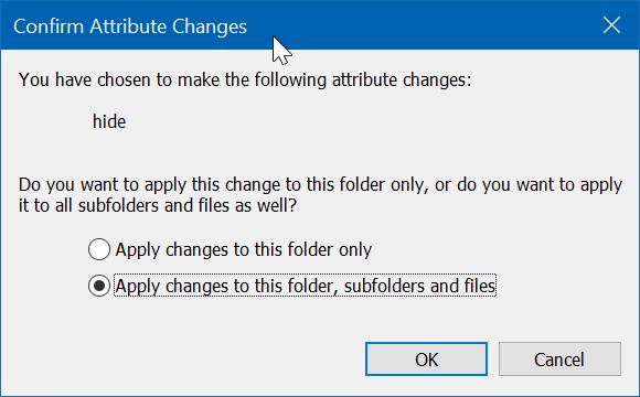 hide files or folders on desktop in Windows 10 pic3