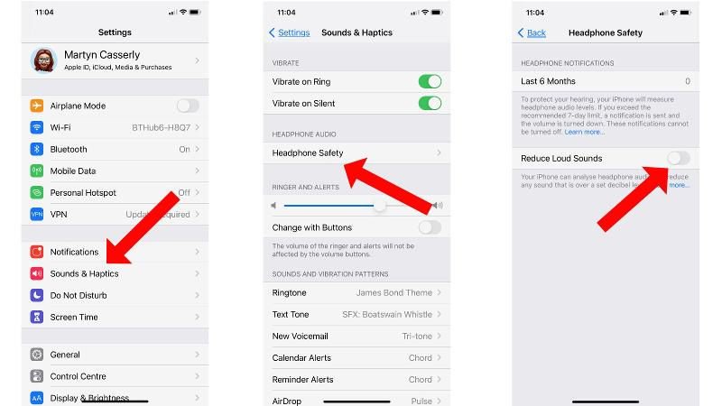 How to make AirPods Louder: Headphone Safety Settings