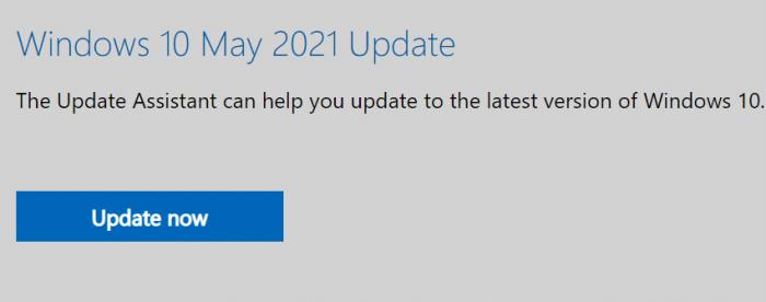 install Windows 10 May 2021 Update