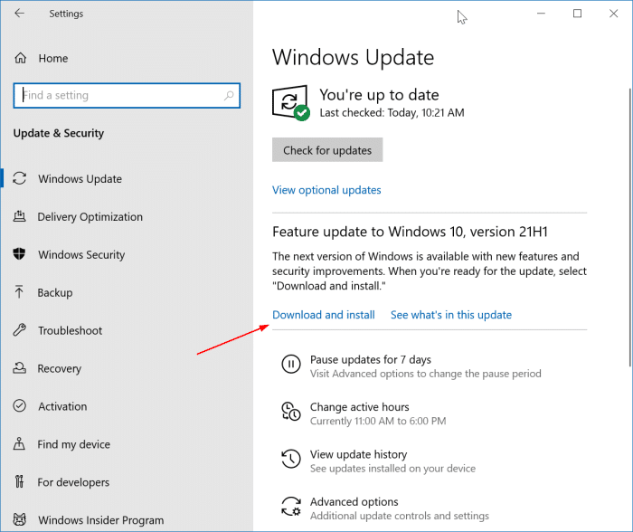 install Windows 10 May 2021 Updatepic2