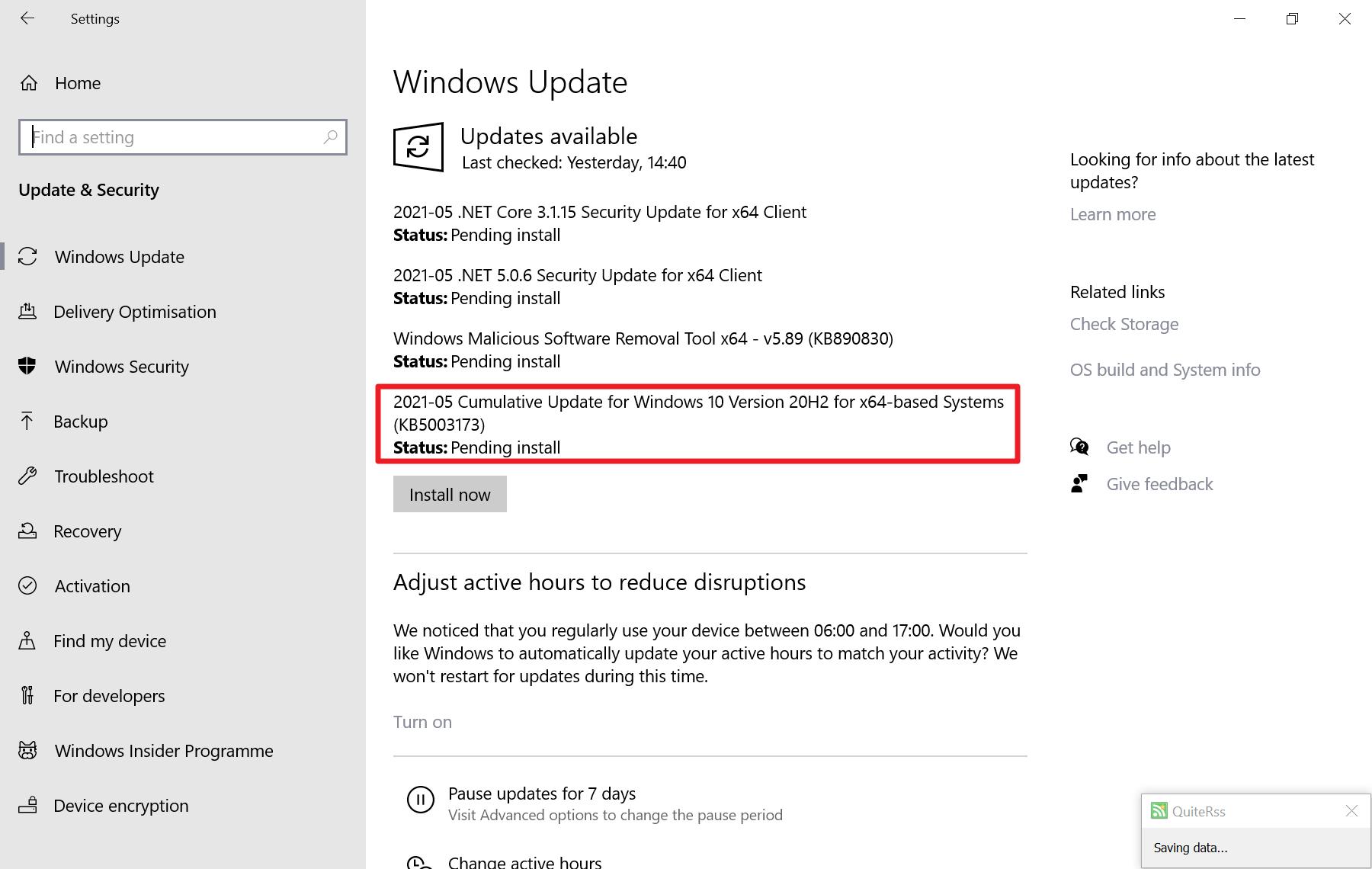 kb5003173-error-during-update-installation-0x800f0922
