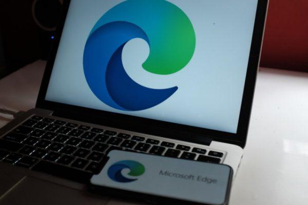 Microsoft Edge on laptop and smartphone