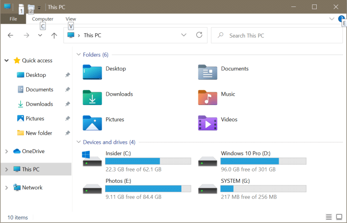 open file explorer to this PC instead of quick access in Windows 10 pic3
