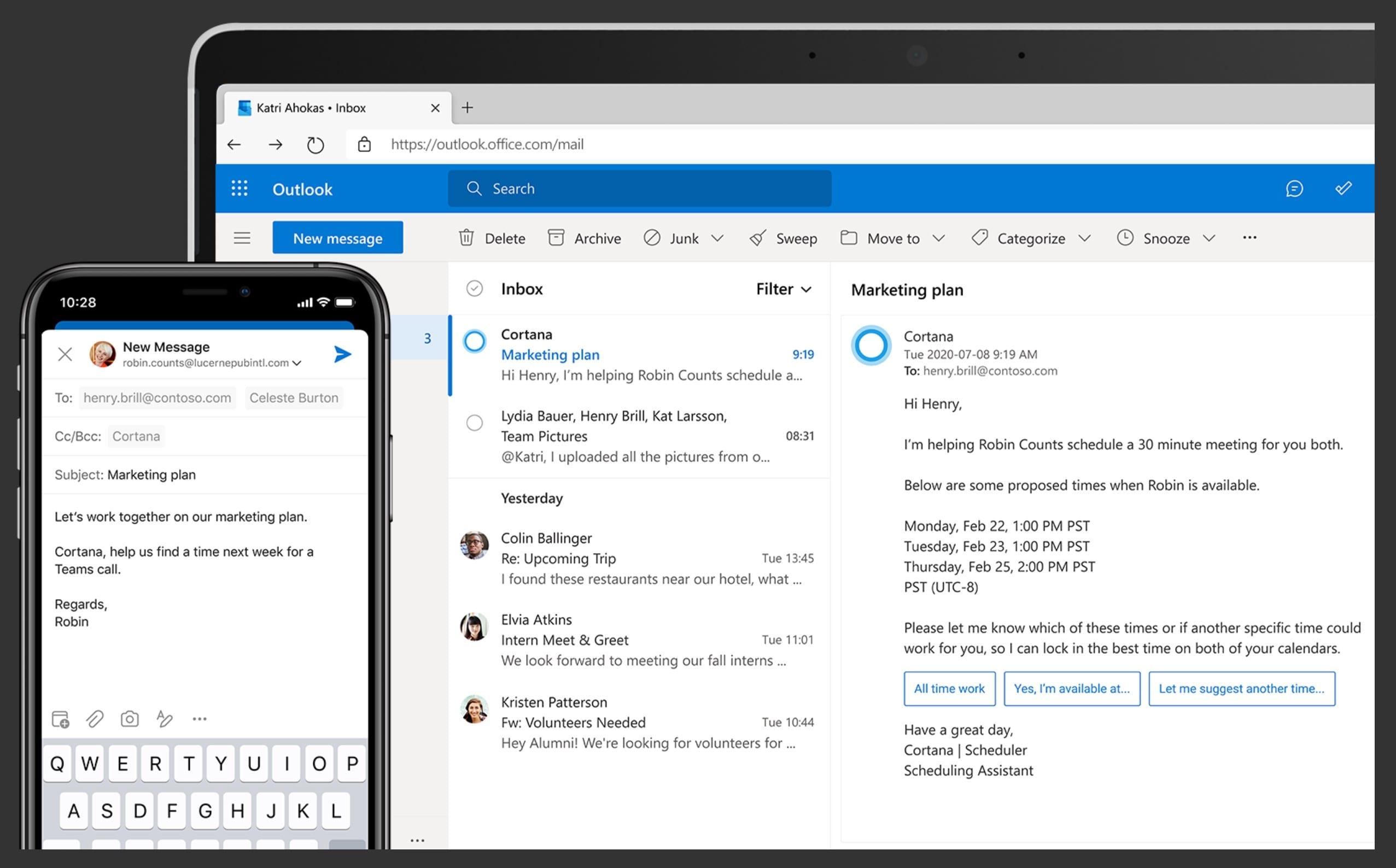 Cortana-e-mail