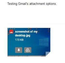 Gmail attachment options