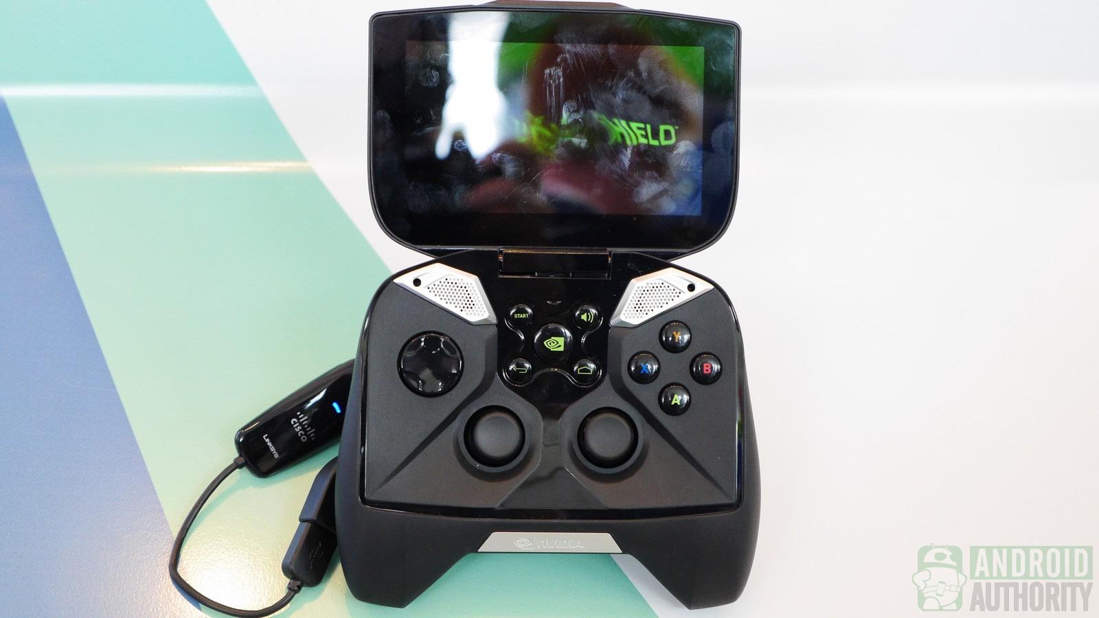 The Nvidia Shield Portable gaming system.