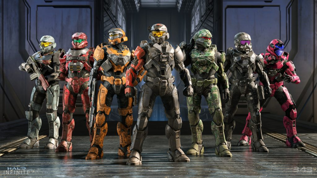 Halo Infinite Multiplayer - Spartan Lineup