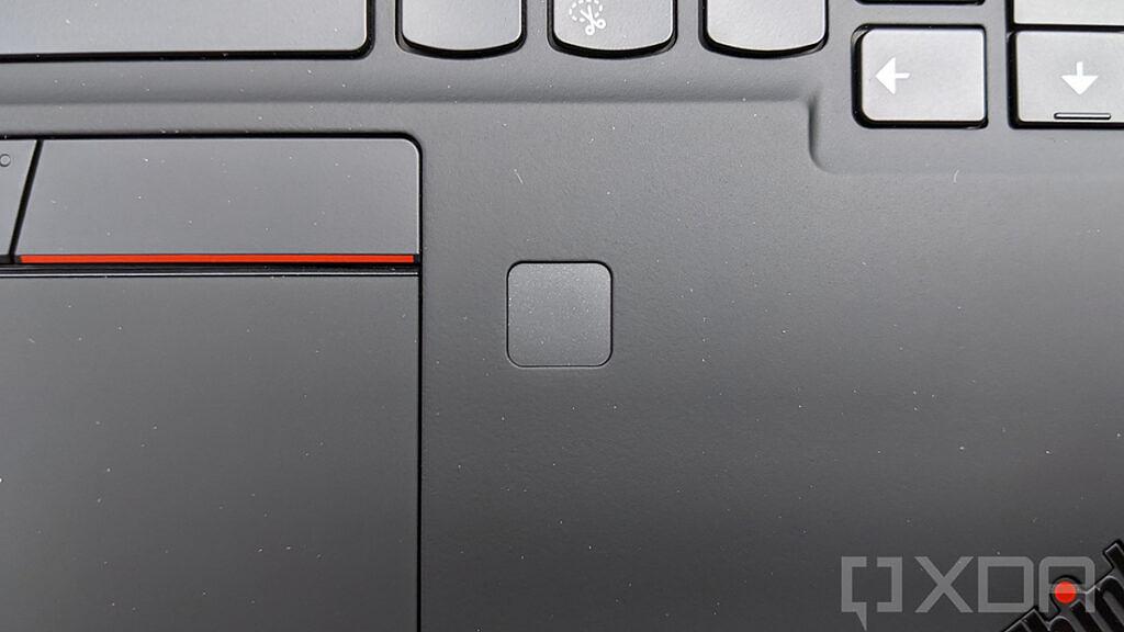 Closeup of ThinkPad fingerprint sensor