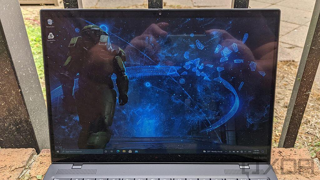 Close up of Lenovo ThinkPad X1 Nano display