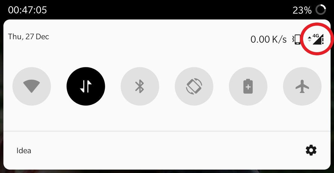 Fix Mobile Data Not Working with Exclamation Mark on Network Signal