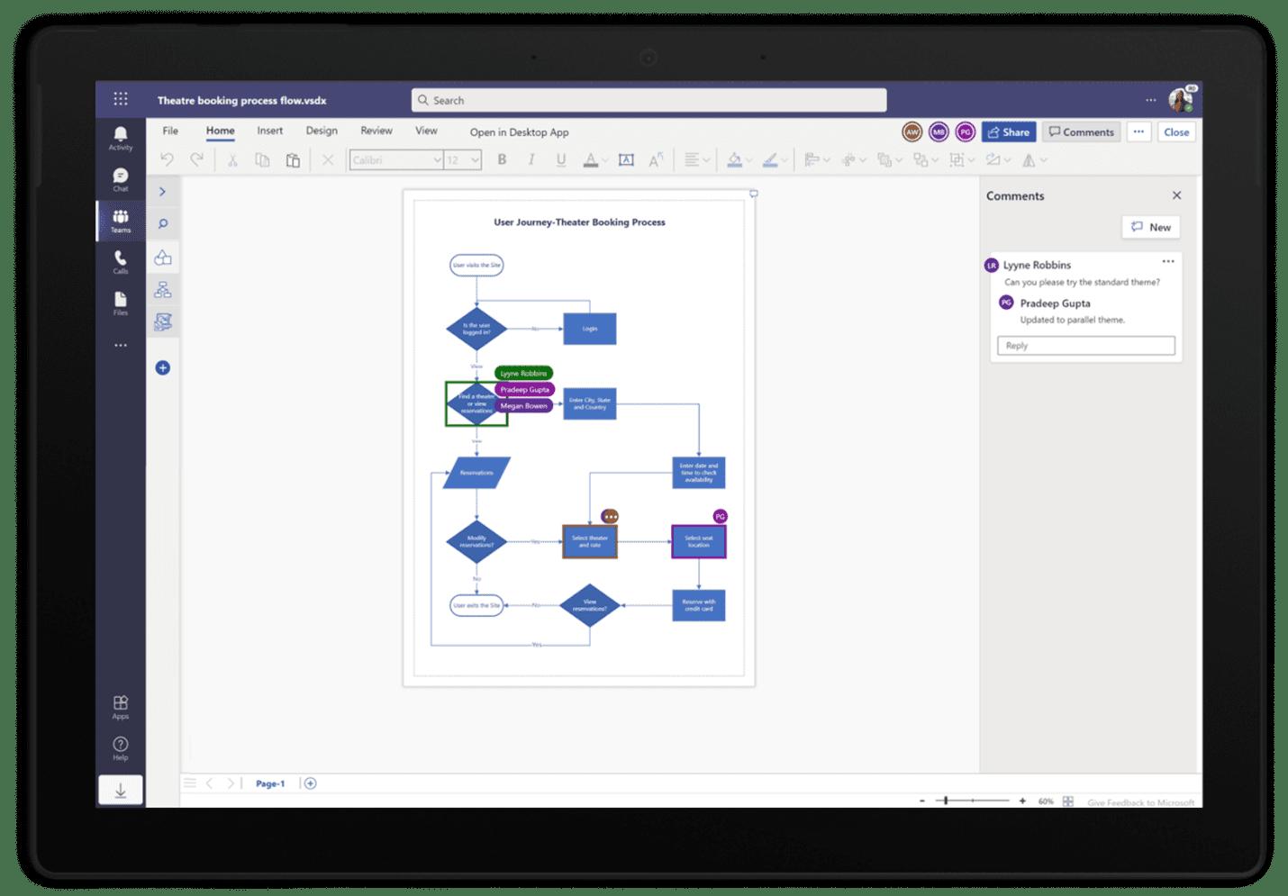 Microsoft Visio Web App in Teams