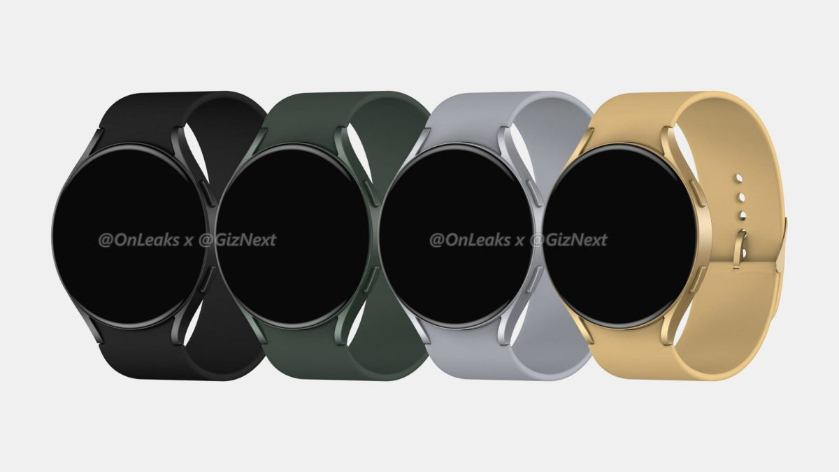 Samsung Galaxy Watch Active 4 renders colorways