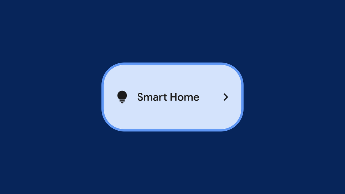 Android 12 Smart Home tile.