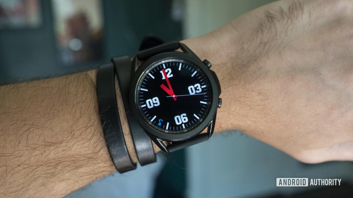 samsung galaxy watch 3 review on wrist watch face